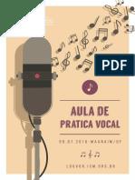 Aula de Técnica Vocal
