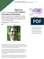 CMO interview_ Balancing brand nostalgia with category innovation at Mondelez - CMO Australia