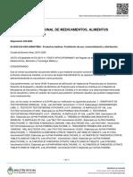 Prohibición de la ANMAT de 114 productos médicos
