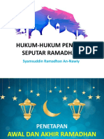 Hukum-hukum Penting Seputar Ramadhan