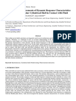 Experimental Measurements of Dynamic Response Characteristics of a Horizontal Circular Cylindrical Shell in Contact with Fluid