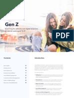 Gen Z - Digital Behaviors of internet users aged 16-21 - GlobalWebIndex Report - Jan-20