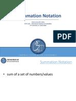 Summation-Notation