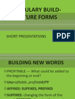 VOCABULARY BUILD-UP, FUTURE FORMS