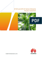 Huawei AR100 and AR120 Series Enterprise Routers Datasheet