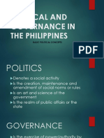 POLITICAL AND GOVERNANCE IN THE PHILIPPINES