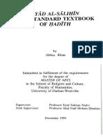 Abbas Khan - Riyag al-Salihi as a standard Textbook of Hadith