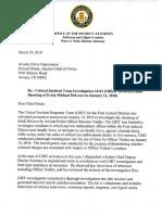 Brandon Valdez Officer-Involved Shooting Decision Letter