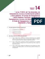 CEP -Test 14 - Ley de Tansparencia (19-2013)