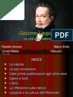 2Giacomo Leopardi Ottaviani Viviani Maron Pasetto.ppt