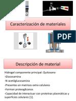 Caracterización de hidrogel de quitosano
