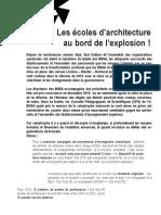 SUDCULTURE_Communiqué Janvier 2020 è Les écoles d'architecture au bord de l'explosion !