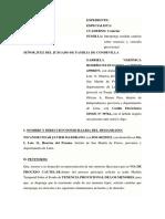 MODELO DE MEDIDA CAUTELAR SOBRE EL FONDO