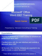 MISV MSO Word2007 Quick Course