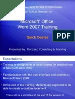 MISV MSO Word2007 Quick Course