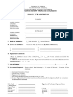 2.a Request For Arbitration (RFA)  Form