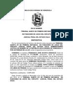 SENTENCIA, procesal penal ll