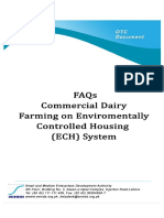 FAQ good Commercial Dairy Farming on Environmentally Controlled Housing ECH System
