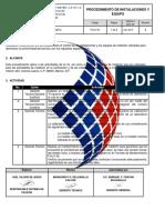 PCUV-06 PROCEDIMIENTO DE INSTALACIONES Y EQUIPO Rev 05