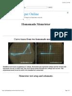 Homemade Memristor