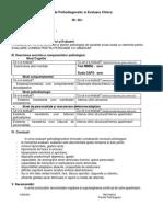Raport de Psihodiagnostic si Evaluare Clinica