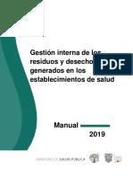 MANUAL GESTIÓN INTERNA DE DESECHOS AÑO 2019