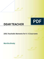 Dear Teacher--1001 Teachable Moments for K-3 Classrooms