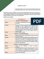 PROGRAMA DE VALORES