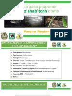 Ficha técnica para proponer el bosque Tz'ahab'tonh
