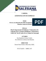 tesis plan de imporrtacion de rulimanes y retendores 2015
