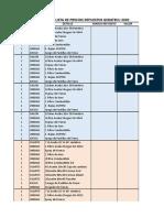 Solicitud lista de precios Fibramax