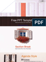Closed Red Door PowerPoint Templates