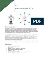 GENERALITĂȚI ROBOT UMANOID ALPHA 1S UBTECH LABORATOR -2-