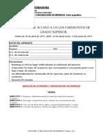 Grado Superior_ECONOMIA_Y ORGANIZACION DE EMPRESAS_ 2015