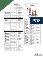 BLACK 12.1 Schedule