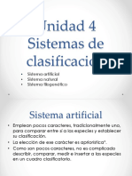Taxonomía. Unidad 4. Sistemas de clasificación.pptx