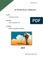 CALCULOS POLIGONAL CERRADA