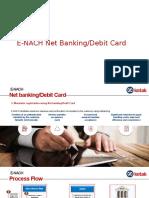 E-NACH Netbanking Presentation