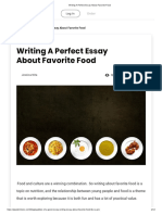 Writing A Perfect Essay About Favorite Food