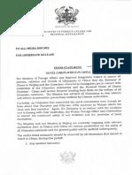 Foreign Affairs Ministry Press Statement on Coronavirus