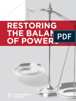 Restoring the Balance of Powers