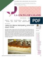 LA COCINA DE CALANDRITA_ TARTA DE CREMA PASTELERA Y NATA CON SALSA TOFFEE