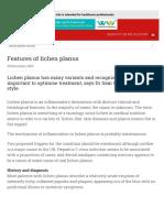 Features of lichen planus | GPonline