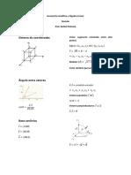 Geometria Analítica e Álgebra Linear - Revisão