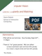 Transparencias sobre visión estéreo de Aaron Bobick de la Georgia Tech College of Computing