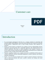 Customer Care Presentation
