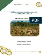cifras de deforestación monografia