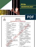 Criminology Mcq's Drill