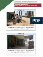 PANEL DE SENSIBILIZACIÓN POR CIERRE DE CALLE LOS TULIPANES