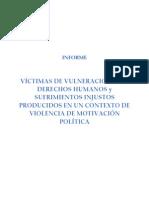 Informe Victimas Motivacion Politica 2010